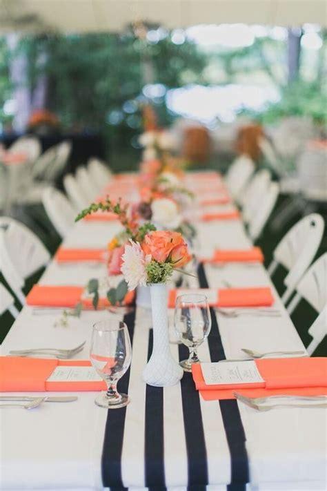 cool black  white sassy stripes wedding ideas