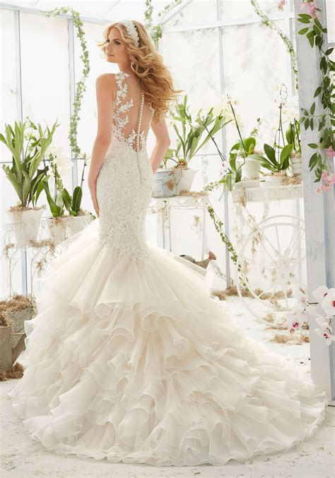 pearls  crystals  lace mermaid wedding dress style