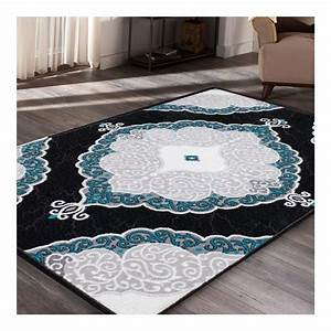 tapis de salon bleu turquoise 19 idees de decoration With tapis salon turquoise