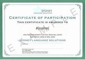 best photos of template of certificate of participation With certification of participation free template