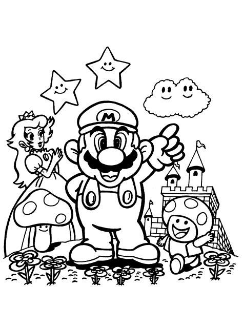 Kleurplaten Mario Bros by Prinses Paddestoel En Mario Kleurplaten
