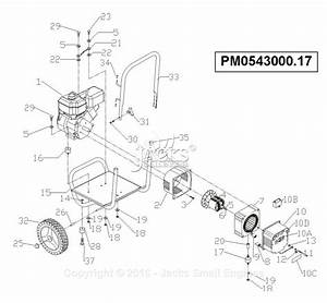 Powermate Formerly Coleman Pc0543000 17 Parts Diagram For