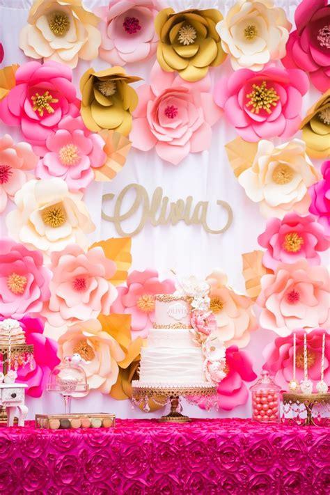Kara's Party Ideas Pink & Gold Garden Tea Party Kara's