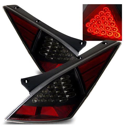 nissan 350z tail lights 03 05 nissan 350z jdm style led tail lights black