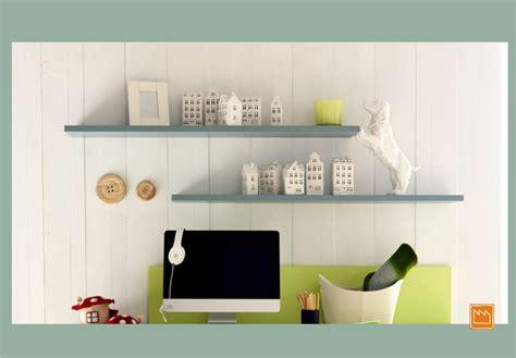 mensole scrivania mensole lineari le camerette per bambini