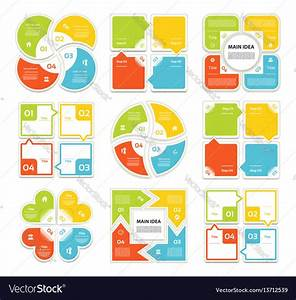 Template For Cycle Diagram Graph Royalty Free Vector Image