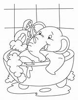 Coloring Bath Elephant Bubble Pages Tub Having Drawing Baby Bestcoloringpages Getdrawings Sheets Popular sketch template