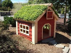 diy green roof dog veranda your projectsobn With green dog house