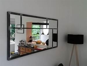 Miroir Fenetre Maison Du Monde : miroir eurus 140cm art industriel ~ Teatrodelosmanantiales.com Idées de Décoration