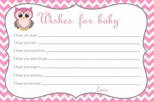 baby shower wishes for baby card owl baby shower With wishes for baby template printable