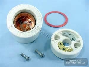 leviton porcelain lholder light socket 2 piece 250v