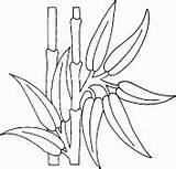 Bamboo Coloring Coloriage Plante Dessin Imprimer Drawings Bambou Drawing Plants Dessins Colorier Moose Doodles Madeira Stencils Resin Fabrics Lucky Decorative sketch template