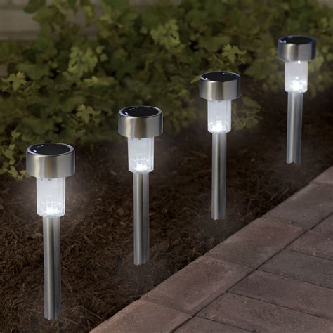 the color changing solar walkway lights hammacher schlemmer