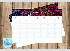 Kit Planner mensal 2018 para imprimir no Elo7 Sweet