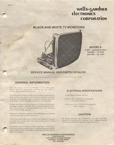 Wells Gardner B U0026w V1001 Arcade Monitor Manual For Sale