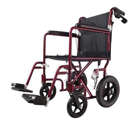 Transport Chair Vs Wheelchair by Medline Transport Wheelchair With Brakes Page 1 Qvc