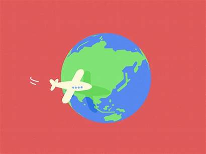 Around Background Graphic Motion Dribbble Cartoon Animation
