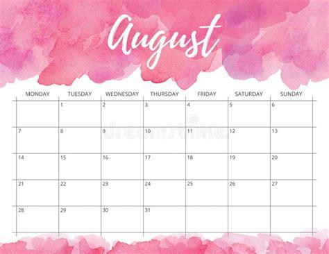 watercolor calendar stock illustration illustration