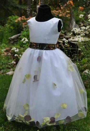 camo flower girl dress ebay