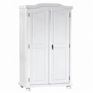 Armoire Pin Massif : armoire 2 portes pin massif blanc rustika ~ Dode.kayakingforconservation.com Idées de Décoration