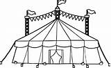Tent Circus Coloring Pages Drawing Printable Camping Drawings Amusement Getdrawings Cartoon Inside sketch template