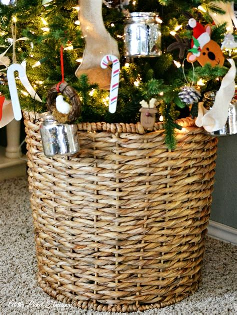 michaels christmas tree basket base our family tree at the picket fence