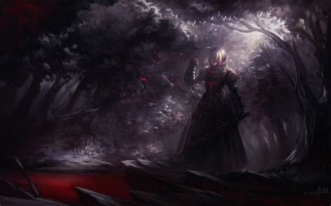 anime girls fate series saber saber alter warrior