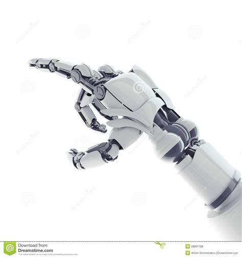 Pointing Robotic Arm Royalty Free Stock Photos   Image: 28891198