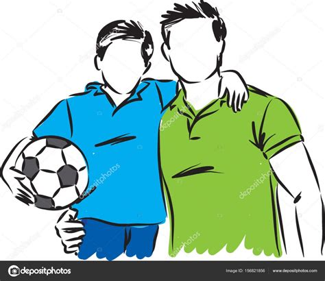 padre e hijo imgenes de archivo vectores padre e hijo padre e hijo con balon de futbol vector