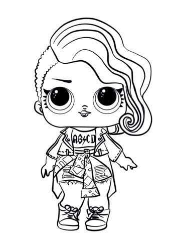 lol surprise doll rocker coloring page  printable