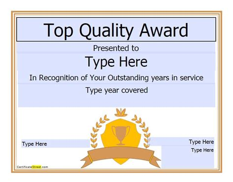 amazing award certificate templates