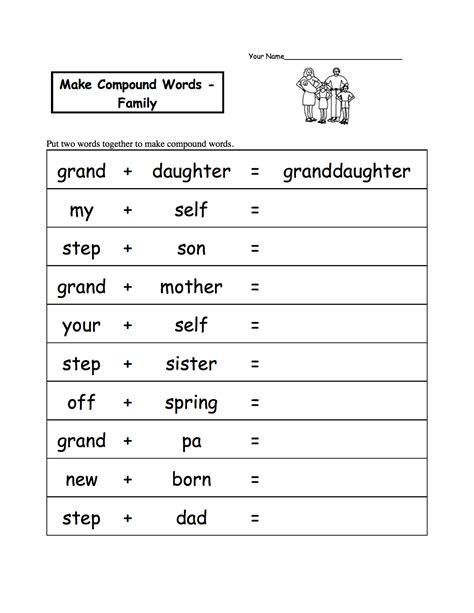 english worksheets ks1 free printable compound words