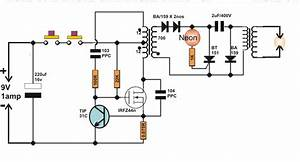 Homemade Circuit Projects  Diy Taser Gun Circuit