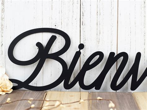 Bienvenue French Welcome Metal Wall Art   Welcome ...