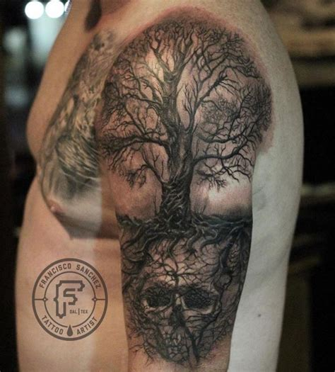 Realistic Tree Tattoo Francisco Sanchez Tattoos