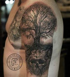 Realistic Oak Tree Tattoo Pictures to Pin on Pinterest ...