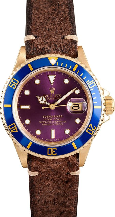 Rolex Submariner 18k Gold 16808, Transitional Dial - at ...