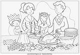 Coloring Christmas Dinner Colouring Pages Breakfast Dining Drawing Activity Village Activityvillage Pdf Colour Table Cooking Children Many Word sketch template