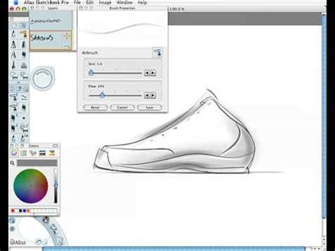 draw shoe design sketch demo youtube