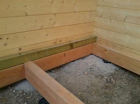 le plancher porteur pour chalet de jardin maison et chalet en bois