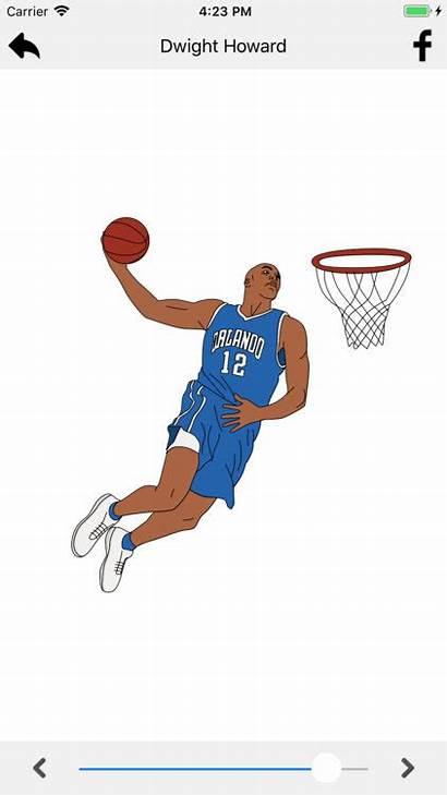 Lebron James Dunk Drawing Draw Basketball Clipartmag