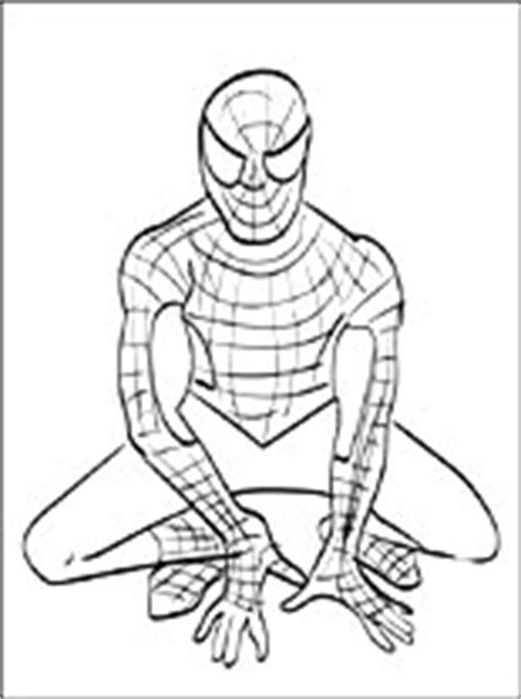 dibujo de spiderman  pintar dibujos  colorear