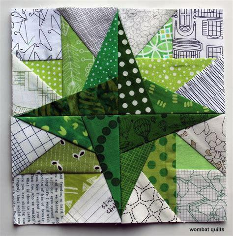 star petal  paper piecing block  wombat quilts