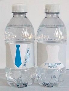 bride groom wedding waterproof water bottle labels With bride and groom water bottle labels
