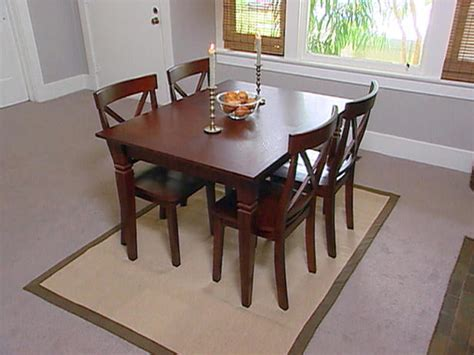 Dining Table Area Rug Under Dining Table