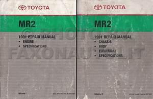 1991 Toyota Mr2 Repair Shop Manual Factory Reprint 2