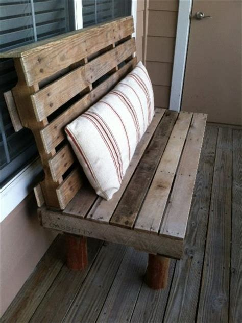 pallet bench  indoor  outdoor pallet furniture plans