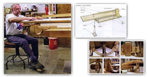 foot powered scroll  plans woodarchivist