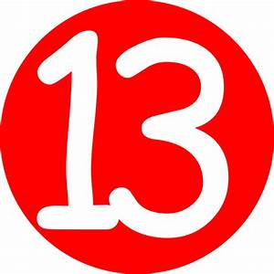 Red, Rounded,with Number 13 2 Clip Art at Clker.com ...