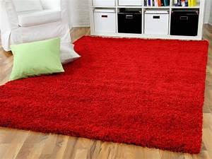 Langflor Teppich Saugen : hochflor langflor shaggy teppich aloha rot ebay ~ Markanthonyermac.com Haus und Dekorationen